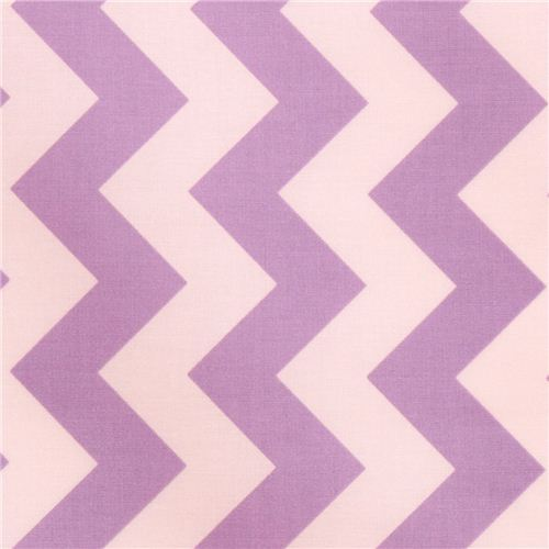 chevron Riley Blake laminate fabric lavender white