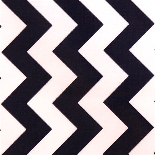 chevron Riley Blake laminate fabric navy white