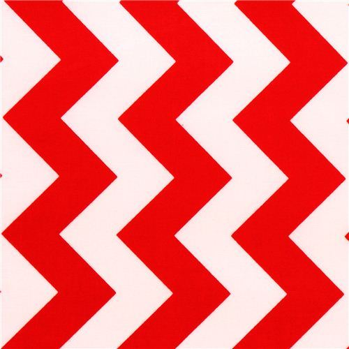 chevron Riley Blake laminate fabric red white
