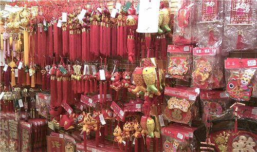 red and golden CNY deco for your home
