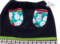 Christmas Snowman Skirt Tutorial (Italian)