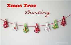 Christmas Tree Bunting on Samelia's Mum