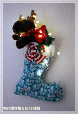 Christmas Stocking on mell mull (German blog)