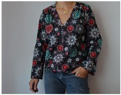 Christmas Snowflake Shirt on diario de naii (Spanish blog)