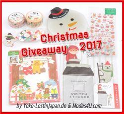 Christmas stationery giveaway on yoko-lostinjapan.de
