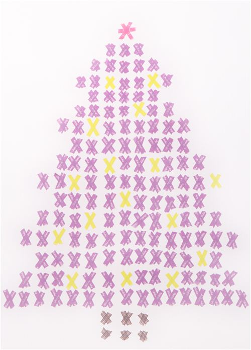 Cross stitch Washi Christmas tree