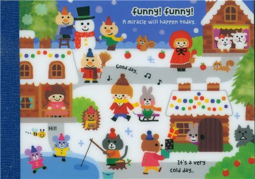cute Christmas memo pad Fairy Tale from Japan