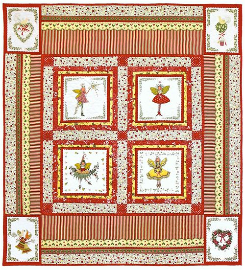 Another great Michael Miller quilt featuring the lovely Christmas pixies fabric