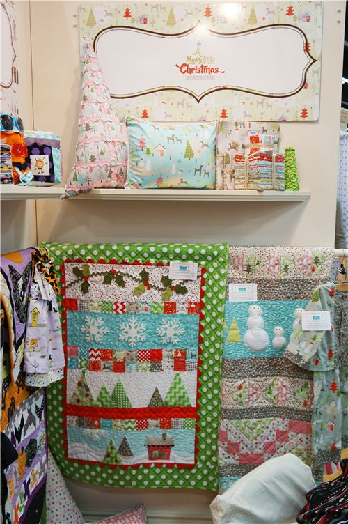 Some Christmas quilts and Christmas home decor by Riley Blake