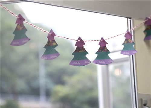 Today's Christmas craft: Washi Tape Christmas Tree Bunting