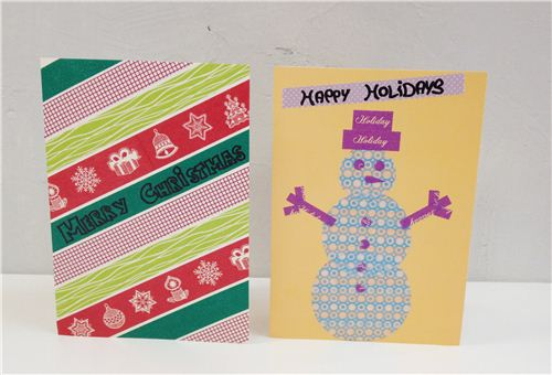 You can make cards with Christmas tapes, but you can also just use regular ones