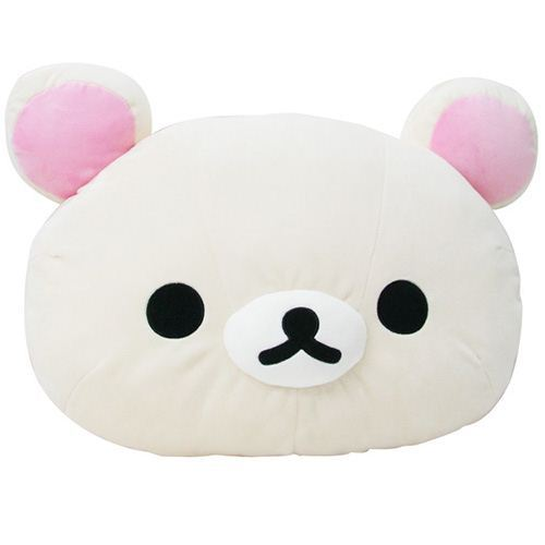 super big Rilakkuma white bear head plushie pillow