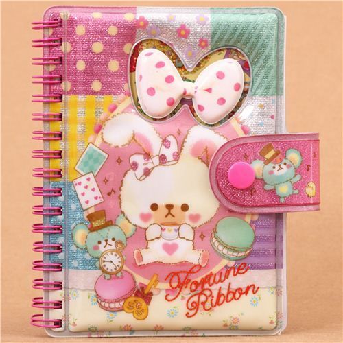 rabbit mouse macaron glitter ring binder sticker album