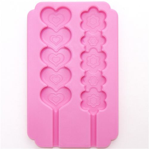kawaii silicone mold for chocolate sticks heart flower