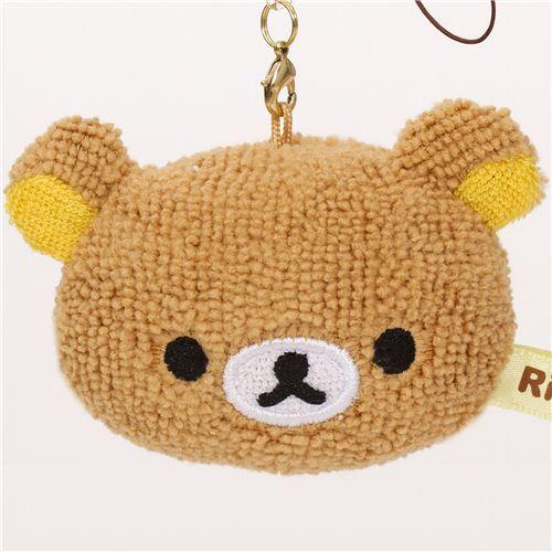 Rilakkuma brown bear head plush charm by San-X