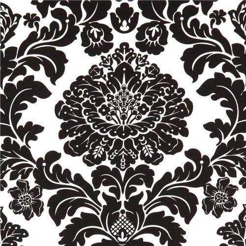 Michael Miller fabric Delovely Damask black-white