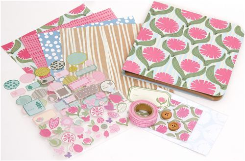 Scrapbooking kit from Japan with big flowers