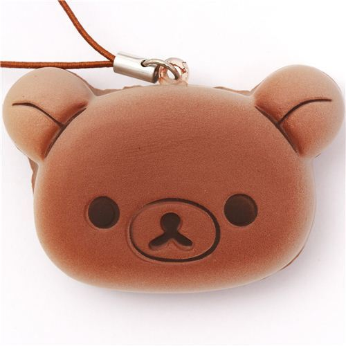 Rilakkuma bear sponge cake squishy cellphone charm