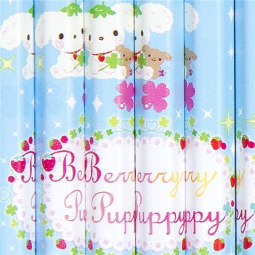 Berry Puppy dog pencil set 12pcs with cloverleaf