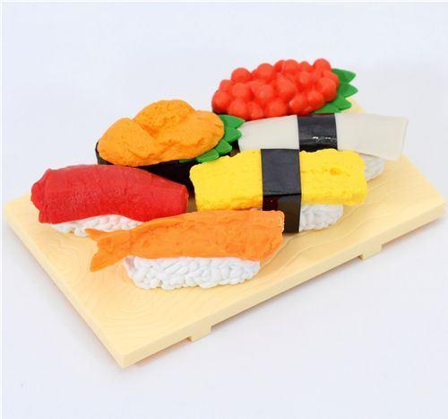 Iwako erasers Sushi Japan 6 pieces set