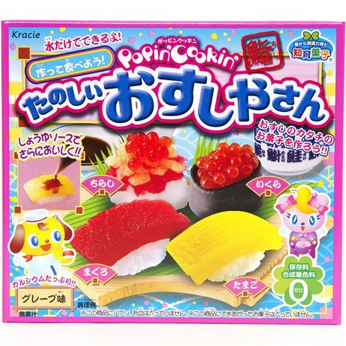 Kracie Popin' Cookin' DIY candy kit Sushi from Japan