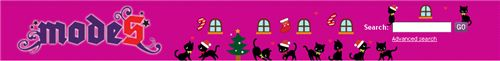 our Christmas header in our shop