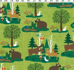 Woodland Friends fabric