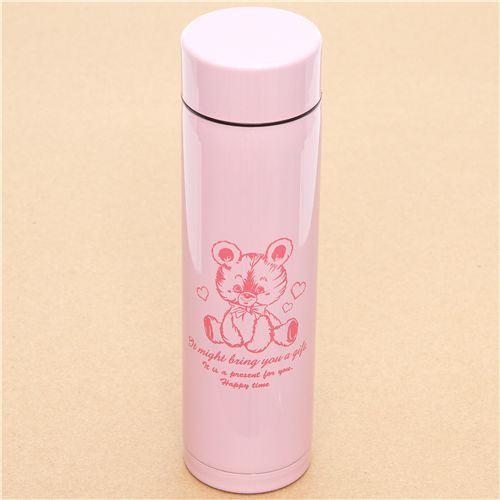 500ml Travel Mug Tea Coffee Water Vacuum Cup Bottle Stainless Steel Thermos Pink