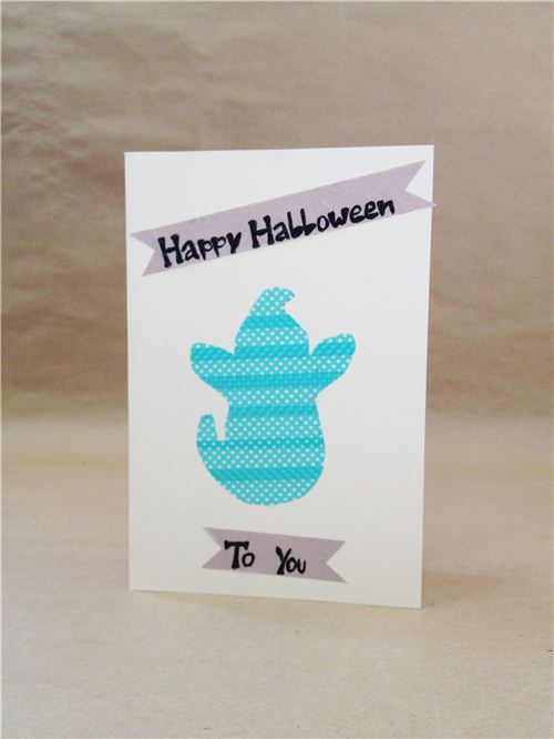 DIY Ghost Halloween card