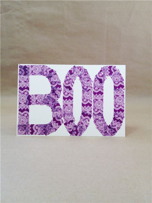 DIY Boo Halloween card