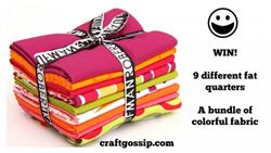 Craftgossip Christmas giveaway with modes4u Fat Quarter bundle, ends October 23rd, 2014