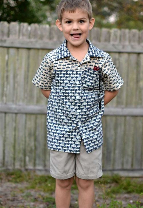 What a great shirt for boys! SewCanShe made it from our Kokka fabrics.
