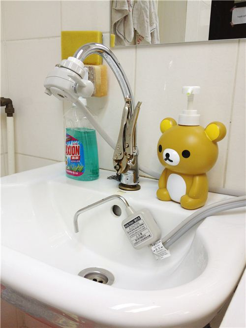 Our adorable Rilakkuma soap dispenser