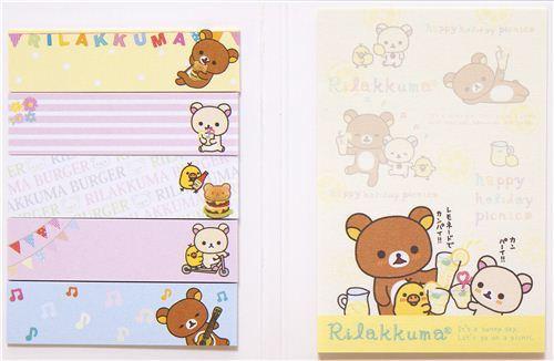 Rilakkuma Holiday Picnic Post-it sticky notes book