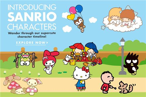 Sanrio released a super cute character timeline on their website