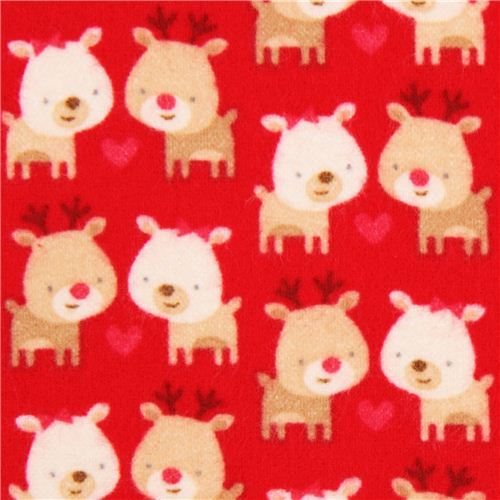 red Riley Blake Xmas flannel fabric Home for the Holidays