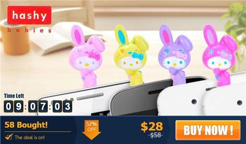 Cute Hello Kitty plugy jacks for earphones on beecrazy.hk