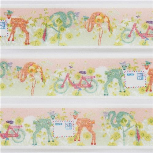 cute deer flamingo mail Masking Tape deco tape