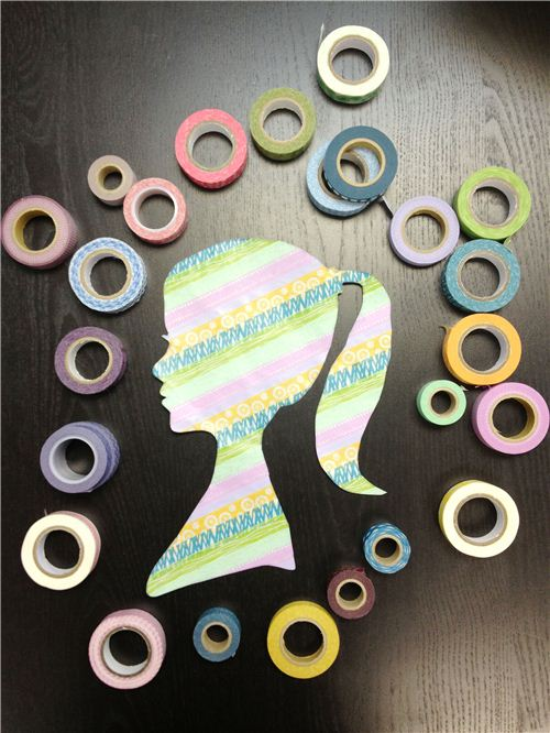 Super easy and fast DIY project for Mother's Day. Make a Washi Tape Silhouette