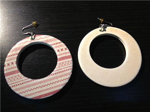 We wanted a makeover for these old white earriings