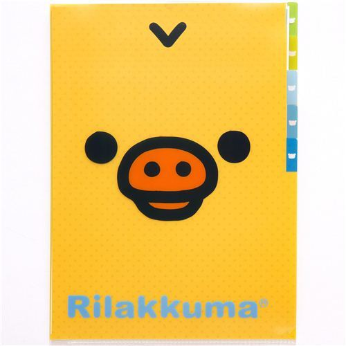 Rilakkuma 5-pocket A4 plastic file folder with chick