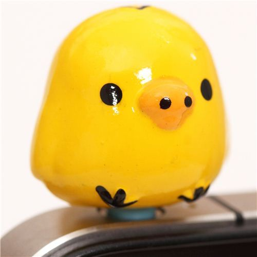 Rilakkuma yellow chick mobile phone plug earphone jack