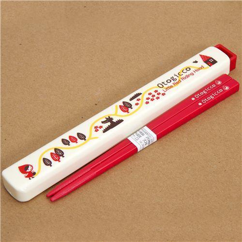 Little Red Riding Hood Bento Chopsticks Otogicco Japan