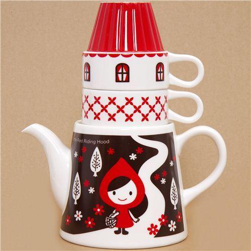 Little Red Riding Hood tea set forest house Otogicco