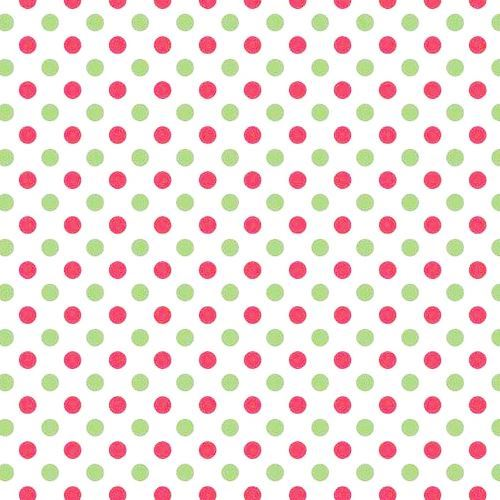 white cute red green dot knit fabric Riley Blake Small Dot Christmas Basics