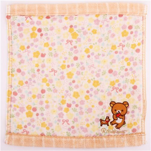 deer Rilakkuma brown bear flower apple costume towel San-X