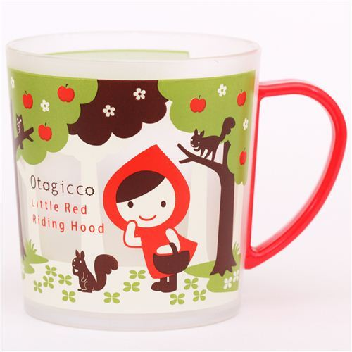 kawaii Otogicco Little Red Riding Hood wolf plastic cup