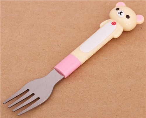 kawaii Rilakkuma white bear fork cutlery by San-X