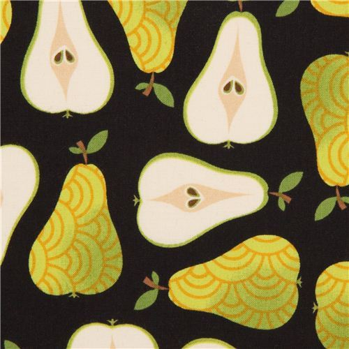 black pear fabric by Robert Kaufman from the USA