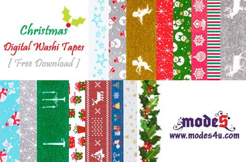 Click on this picture to download the first edition of our free digital Christmas Washi Tapes
